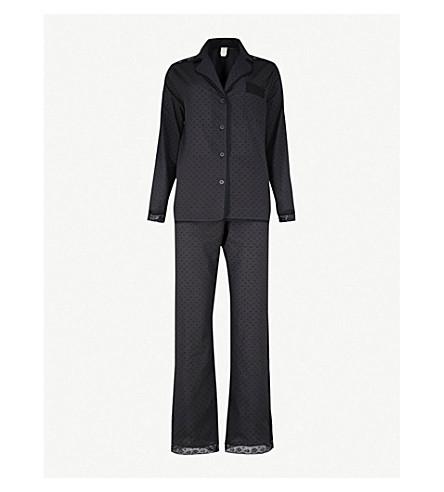 MORPHO AND LUNA Ines cotton-poplin pyjama set (Black
