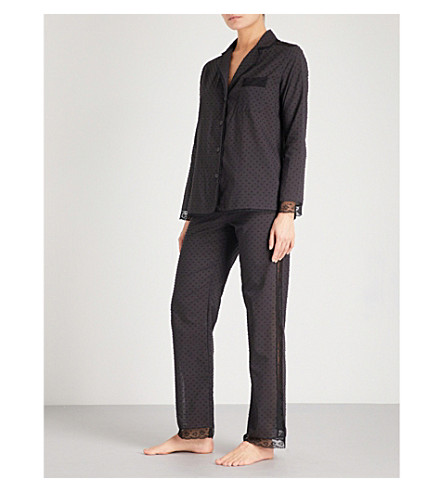 MORPHO AND LUNA Ines cotton-poplin pyjama set (Black