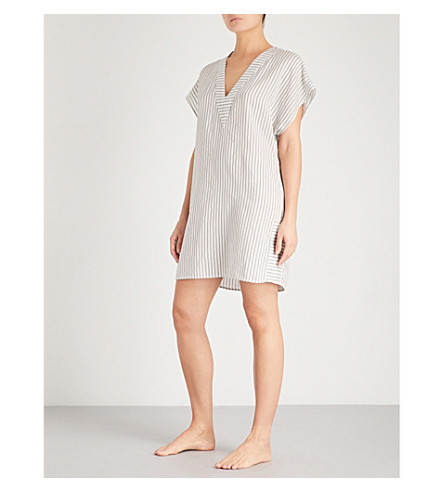 MORPHO AND LUNA Annie shift silk-voile nightdress (Snow
