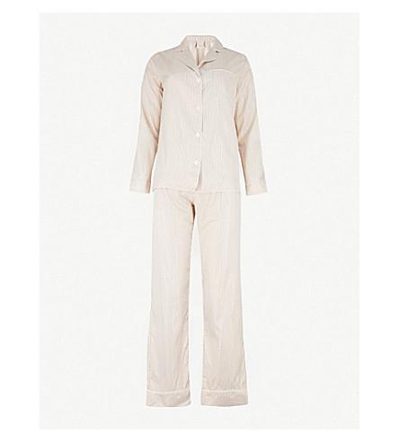 MORPHO AND LUNA Ines silk-blend pyjama set (Gold