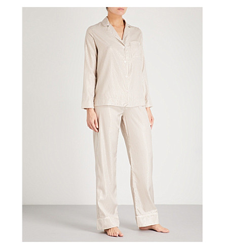 MORPHO AND LUNA Ines silk-blend pyjama set (Gold