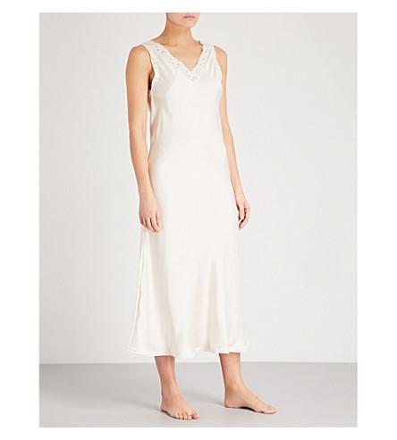 MORPHO AND LUNA Alina silk-satin nightdress (Champagne