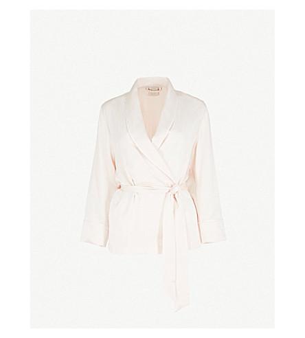 MORPHO AND LUNA Amelie silk-satin pyjama top (Champagne