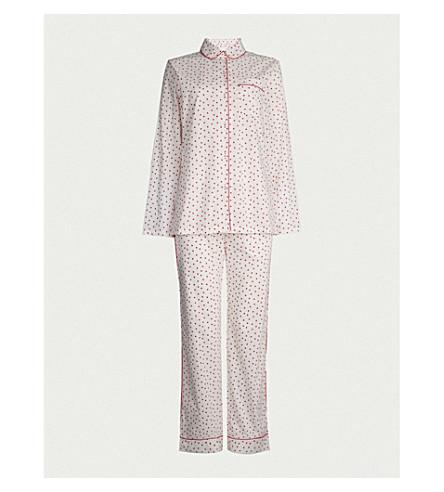THREE J NYC Murphy heart-print cotton pyjamas (Red+heart
