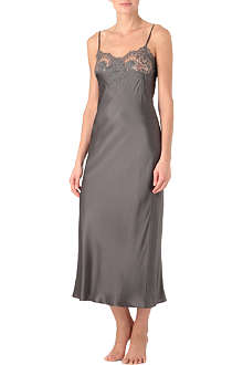 MARJOLAINE Jardin long silk nightdress