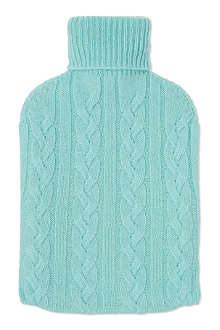 JOHNSTONS Cashmere-covered hot water bottle