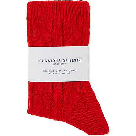 JOHNSTONS Cashmere bed socks (Cavalry