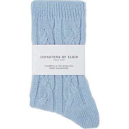 JOHNSTONS Cashmere bed socks (Mirage