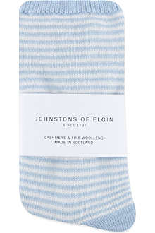 JOHNSTONS Striped cashmere socks