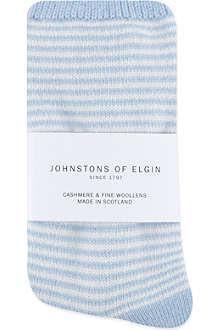 JOHNSTONS Striped cashmere socks