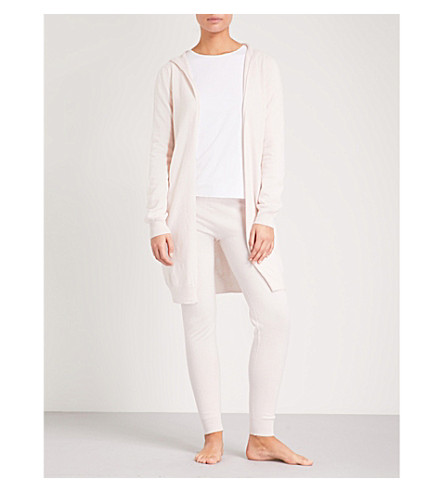 JOHNSTONS Hooded cashmere cardigan (Cameo