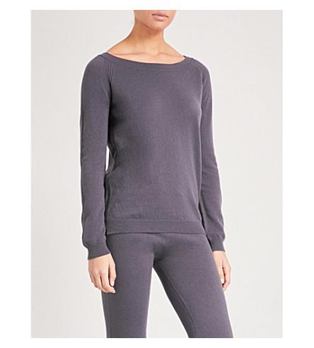 JOHNSTONS Boatneck cashmere jumper (Nightshade