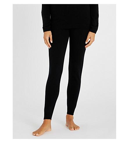 JOHNSTONS Tapered cashmere jogging bottoms (Black