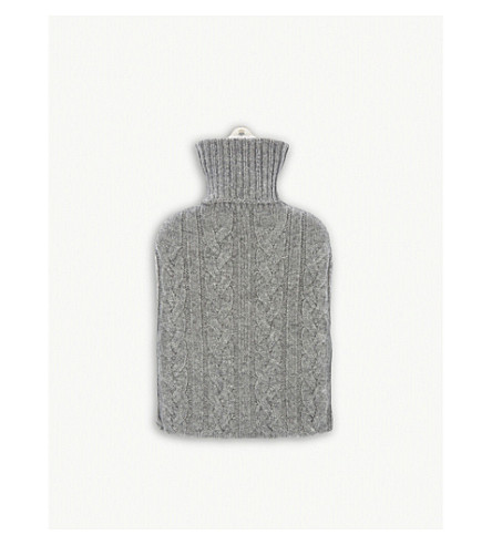 JOHNSTONS Hot water bottle and cashmere cover (Light+grey