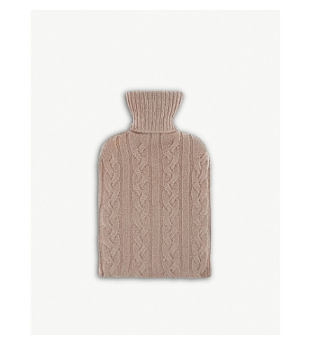 JOHNSTONS Hot water bottle and cashmere cover (Powder