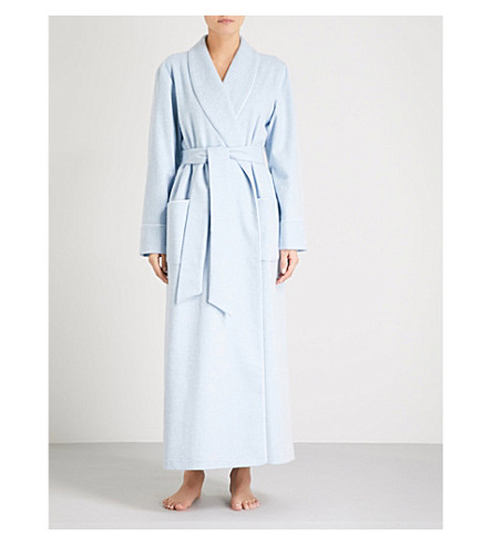 JOHNSTONS Ladies cashmere robe (Light+blue+melange