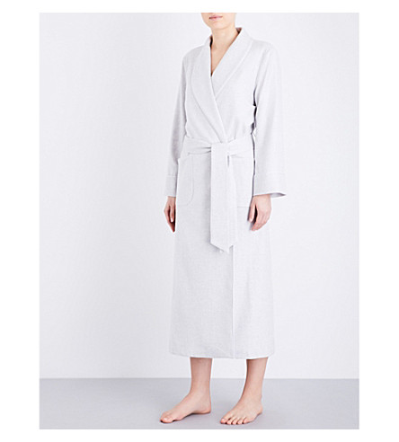 JOHNSTONS Ladies cashmere dressing gown (Ru5538-02 l/grey