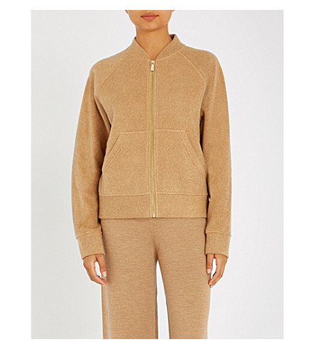 MAX MARA Egle cotton-blend sweatshirt (Camel
