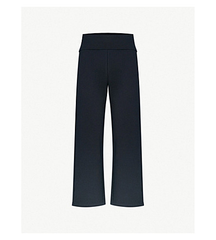 MAX MARA Buono cropped cotton-jersey jogging bottoms (001+navy