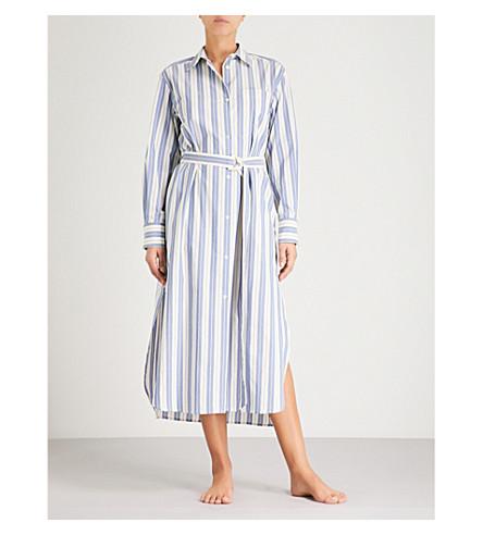 MAX MARA Folgore striped cotton shirt dress (007+white