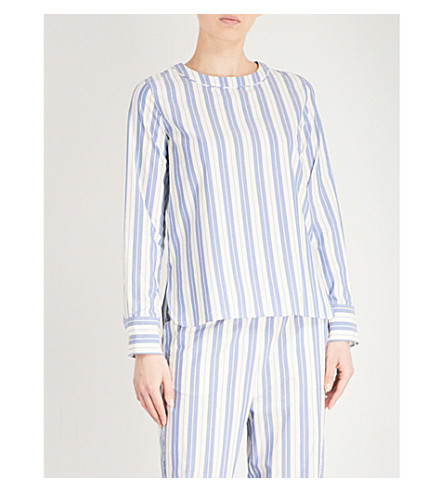 MAX MARA Gufo striped cotton top (007+white