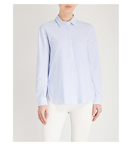 MAX MARA Luciana striped cotton shirt (001+white