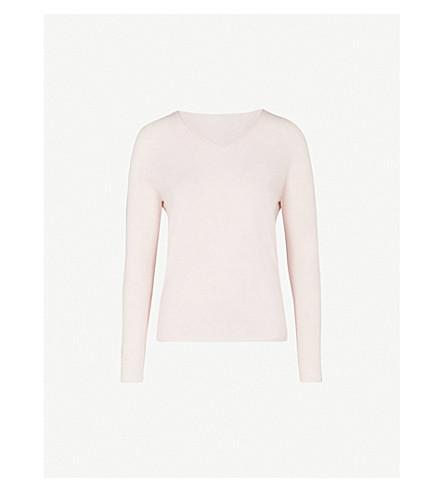 MAX MARA Maremar V-neck cashmere jumper (001+pink