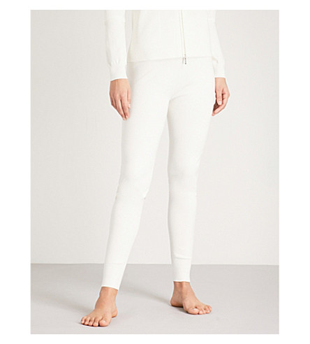 MAX MARA Ortica tapered knitted jogging bottoms (003+white