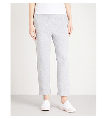 MAX MARA Pareo cotton-jersey jogging bottoms (001+medium+grey
