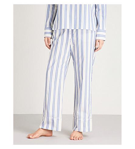 MAX MARA Terry striped cotton pyjama bottoms (007+white
