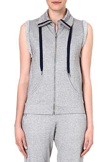 PRINCESSE TAM TAM Sleeveless zip-through jacket