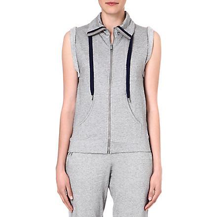 PRINCESSE TAM TAM Sleeveless zip-through jacket (2175 gris/gris