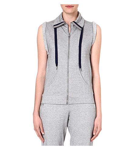 PRINCESSE TAM TAM Sleeveless zip-through jacket (2175 gris/gris
