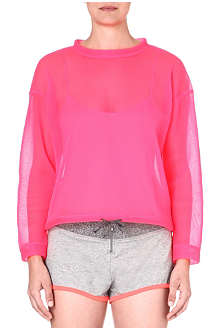 PRINCESSE TAM TAM Bubble sheer sweatshirt