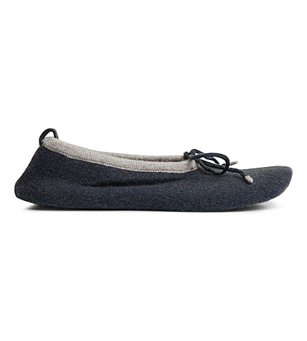CASH CA Cashmere slippers (Anthracite+marble