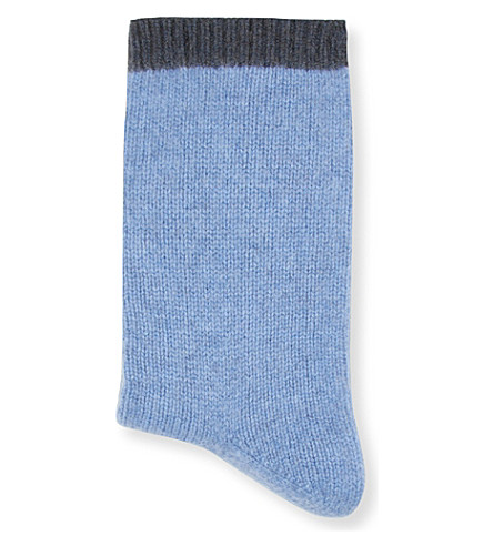 CASH CA Cashmere bed socks (Horizon+anthracite