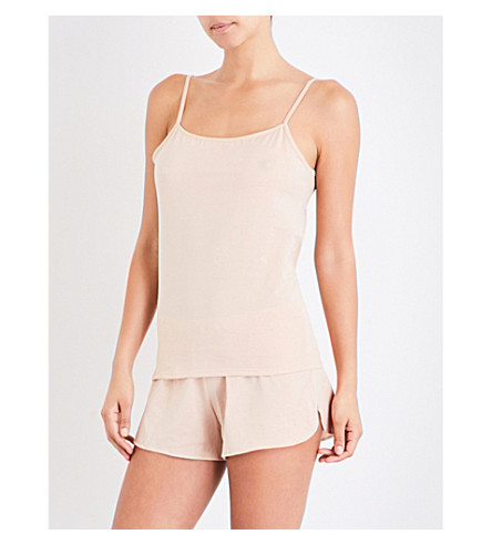 SUNSPEL Superfine cotton-jersey camisole (Natural