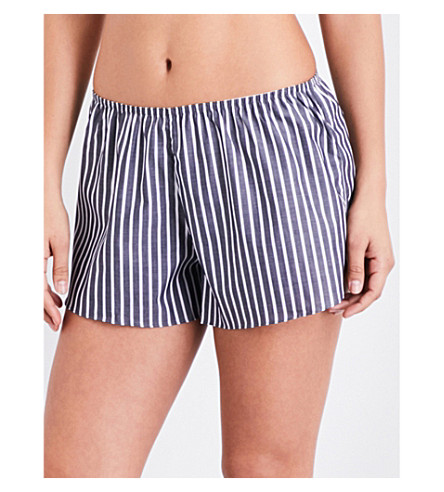 SUNSPEL Striped cotton pyjama shorts (Stripe