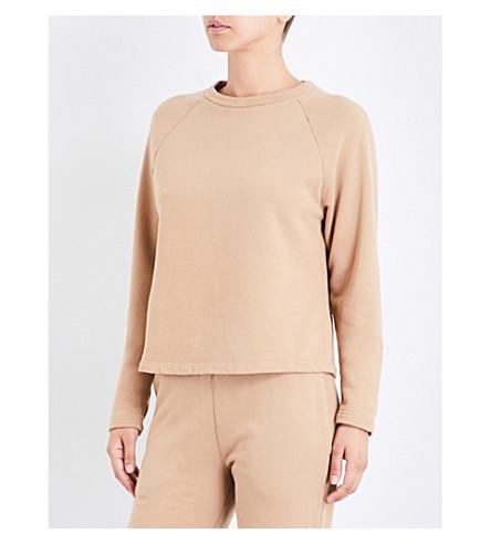 SUNSPEL Round-neck cotton-jersey sweatshirt (Camel