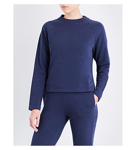 SUNSPEL Crewneck cotton sweatshirt (Navy+melange