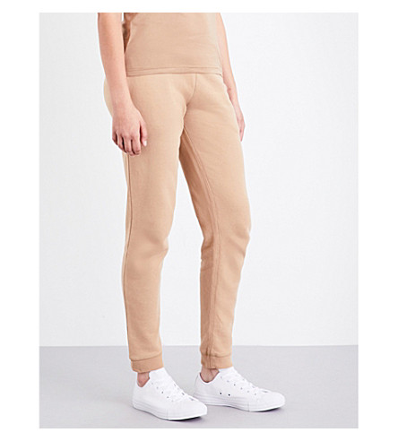 SUNSPEL Relaxed-fit cotton-jersey jogging bottoms (Camel