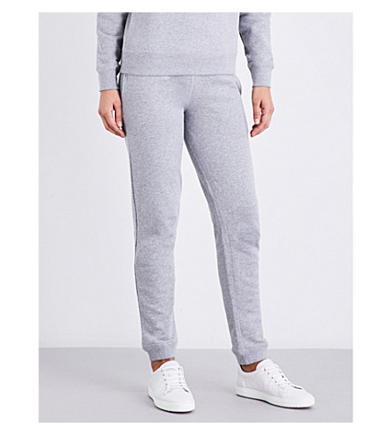 SUNSPEL Skinny relaxed-fit cotton-jersey jogging bottoms (Grey+melange