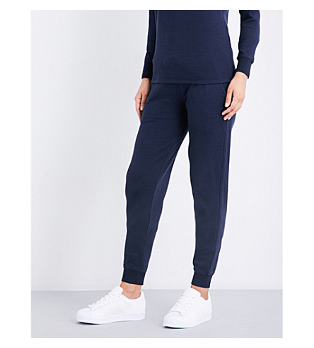 SUNSPEL Relaxed-fit cotton-jersey track pants (Navy