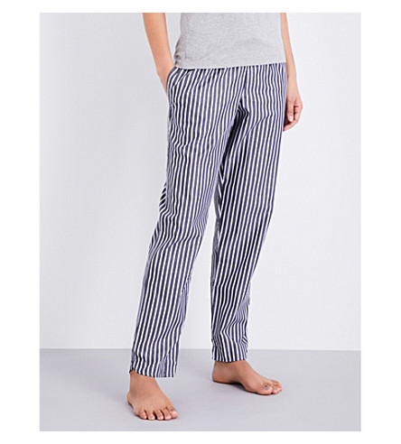 SUNSPEL Striped cotton pyjama bottoms (Stripe