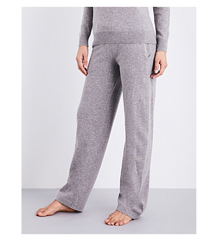 SUNSPEL Relaxed-fit straight lamsbwool lounge trousers (Marble
