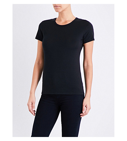 SUNSPEL Short-sleeve cotton-jersey T-shirt (Black