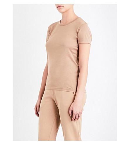 SUNSPEL Short-sleeve cotton-jersey T-shirt (Camel