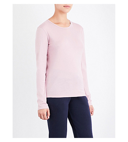 SUNSPEL Long-sleeve cotton-jersey T-shirt (Ash+rose