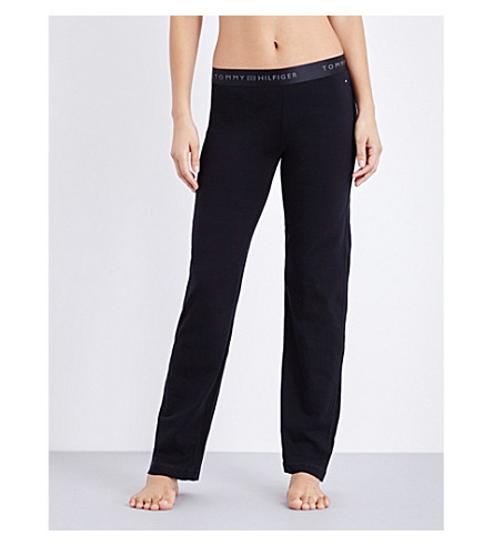 TOMMY HILFIGER Iconic stretch-cotton pyjama bottoms (Black