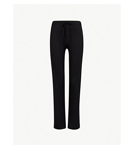 TOMMY HILFIGER Logo-embroidered stretch-cotton pyjama bottoms (Black